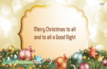 Merry Christmas Good Night Images, Quotes