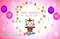 Merry Christmas To All Of You Message