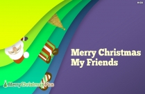 Merry Christmas To My Friends Image