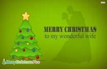 Merry Christmas To My Wonderful Wife Image