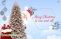 Merry Christmas And A Happy New Year Message