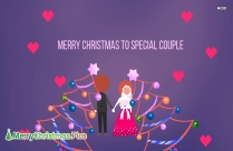 Christmas Wishes To a Special Couple