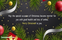 Merry Christmas And Happy Holidays.