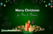 Merry Christmas Friend Image