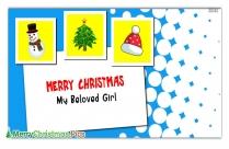 Merry Christmas Vintage | Merry Christmas My Beloved Girl