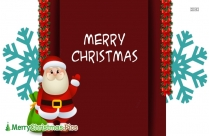 Merry Christmas And Happy New Year Santa