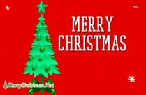 Merry Christmas With Tree