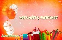 Wish You Merry Christmas Image