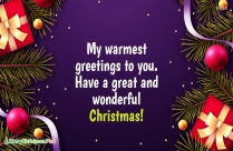 Happy Christmas Greeting Quotes