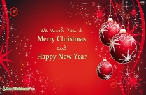 Merry Christmas And Happy New Year Greetings In Italian