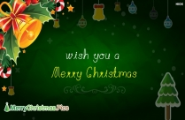 Wish You A Merry Christmas Ecard