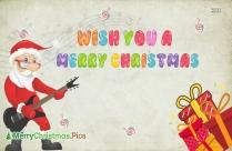 Wish You A Merry Christmas Guitar Image