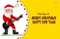 Wish You A Merry Christmas Happy New Year Greeting Card