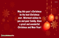 Merry Christmas Wishes For Friend