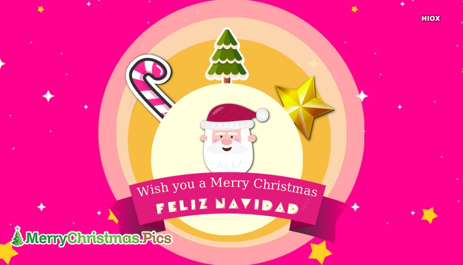 Wish You A Merry Christmas Feliz Navidad